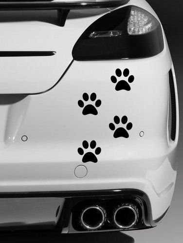 12 x DOG PAW PRINTS Car Van Decal Sticker Vinyl